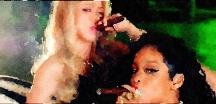 Shakira and Rihanna Enjoy Cigars