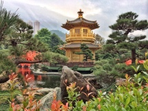 Golden Pagoda and lake