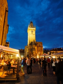 Night-time in the Square