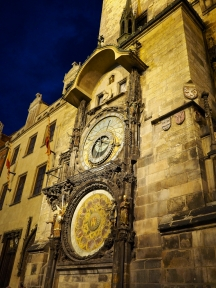 The clock at night