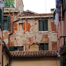 Crumbling Stucco, Windows and Washing