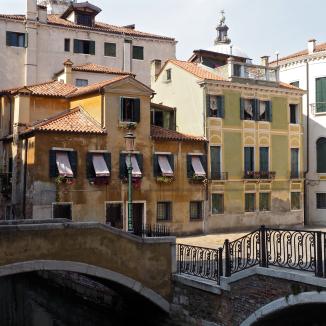 Houses, Bridge and square